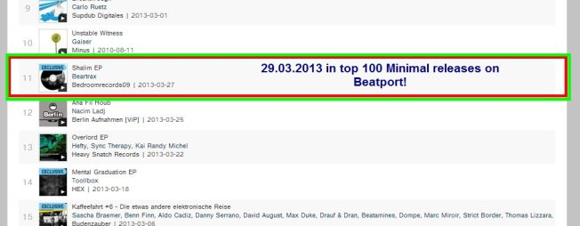 In top 100 releases on beatport